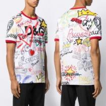 半袖Tシャツ 2色可選 累積売上総額第1位 ドルチェ&ガッバーナ Dolce&Gabbana 20SS☆送料込-1